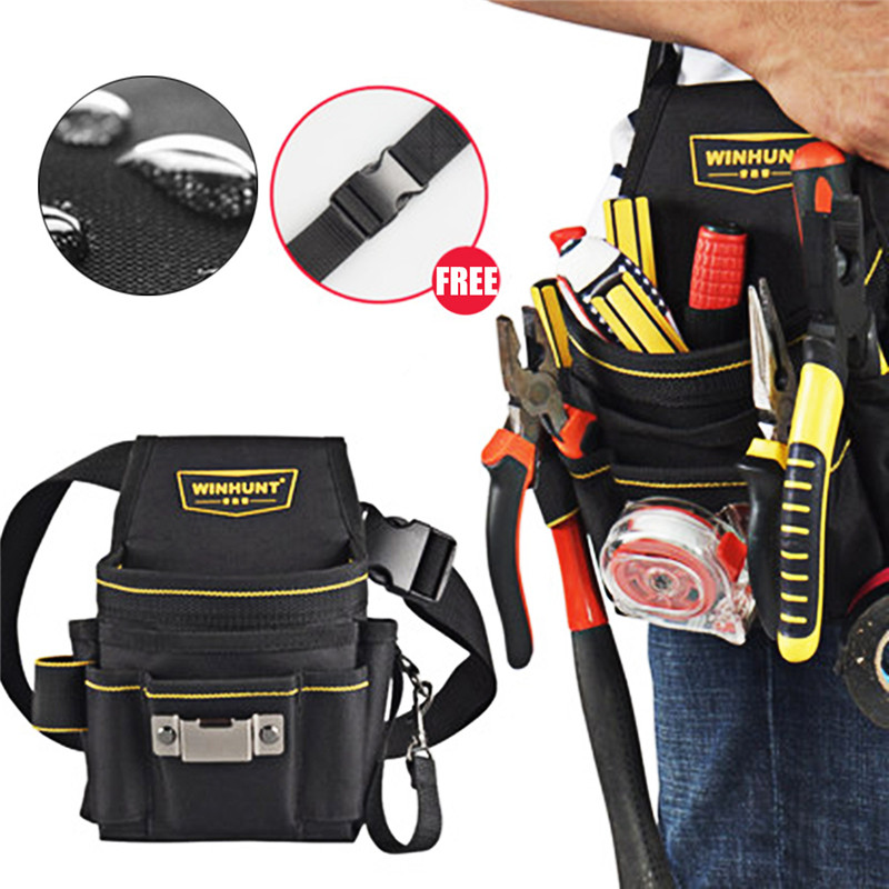 18 Pocket Tool Belt Electrician Tool Pouch Tool Holder Electrician Waist Maintenance Tool Bag Convenient Multi-pocket