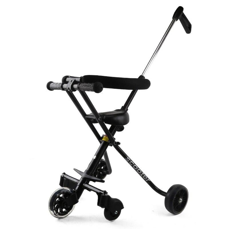 Oyuncaklar ve Hobi Ürünleri'ten Sürülebilir Araçlar'de Bebek Shining Katlanabilir Arabası Ile Çocuklar Için Çit Üç Tekerlekli Bisiklet Beş Tekerlekli Bebek Arabası Işık Katlanır Bebek Yük taşıyan 30 KG'da  Grup 2