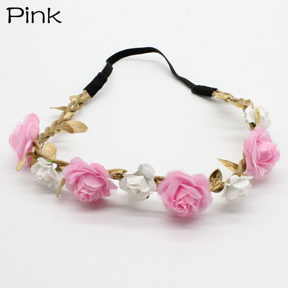 1 PC Fashion Cute Kid Girls Rose Flower Wreath Hair band Wedding Party Floral Girl Crown Wreath Headband Hair Accessories дождеватель доляна 1006611