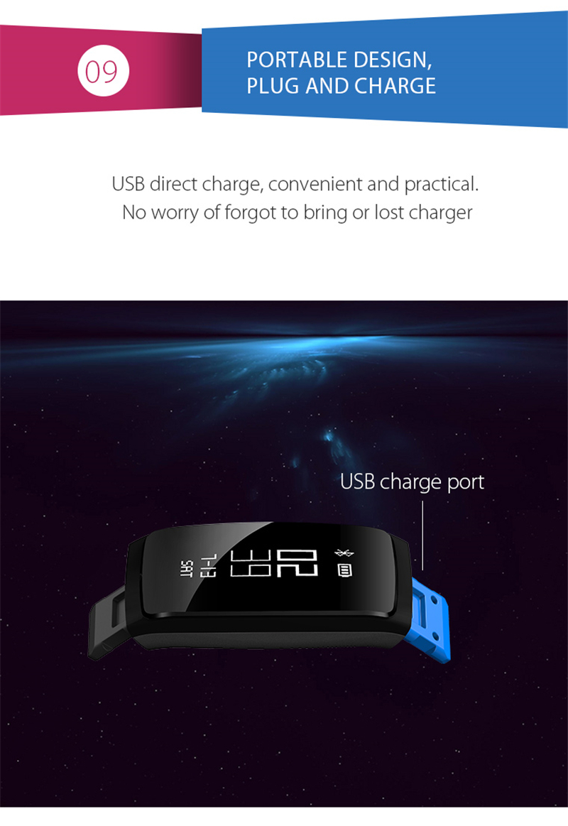 Smart Bracelet Bluetooth Smart Band V07 Watches Blood Pressure Heart Rate Monitor Pedometer Fintess Tracker SMS Call Reminder 13