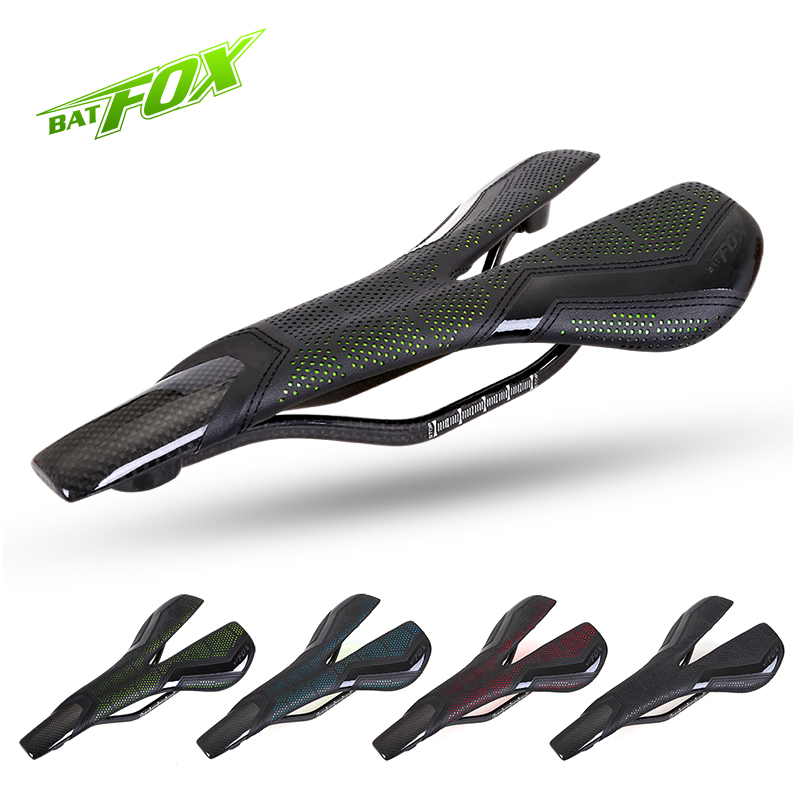 BATFOX 135g Carbon Saddle Road MTB Mountain Bicycle Saddle Cycling Bike Carbon Seat Saddle Cushion Bike Parts Sella Carbonio miracle bikes 2017 free shipping 3k cycling bicycle saddle mtb road bike carbon rail saddle seat 116g carbon saddle