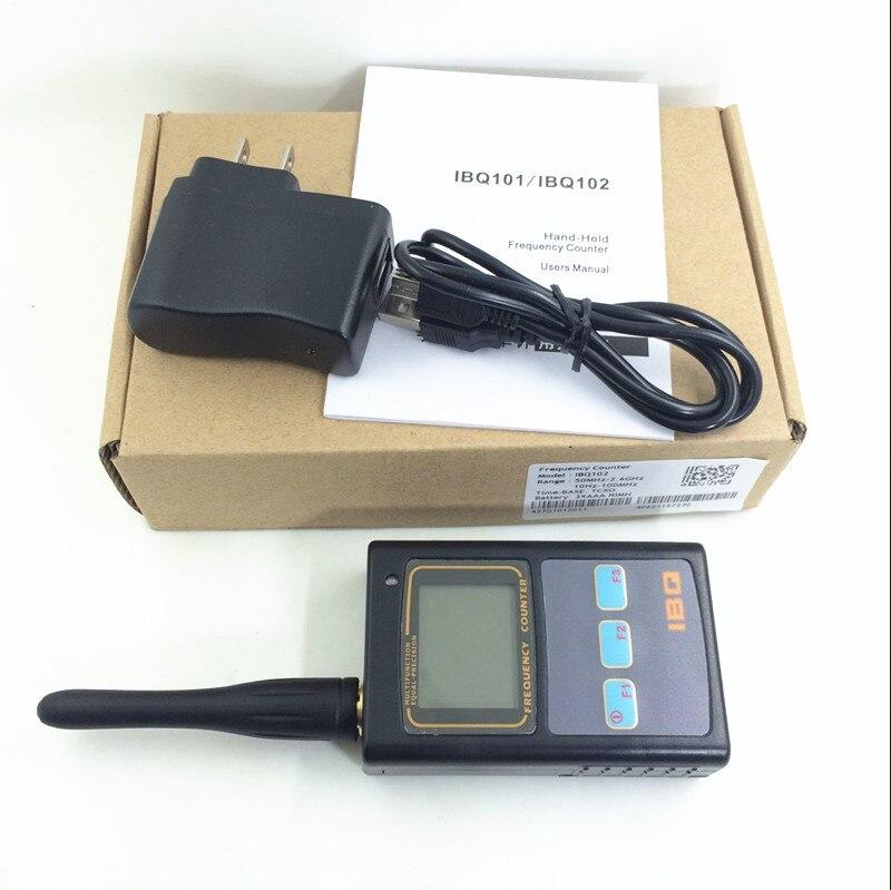 Portable Deux-Way Radio Fréquence Compteur Compteur IBQ102 Large Test Gamme 10 mhz-2.6 ghz Sensible Fréquence Analyseur testeur