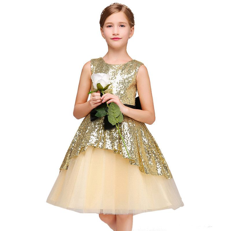 New Children Girls Mesh Sequin Tutu Princess Dress Kids Dresses For Girls Birthday Evening Party Baby Girl Clothes Vestido F193New Children Girls Mesh Sequin Tutu Princess Dress Kids Dresses For Girls Birthday Evening Party Baby Girl Clothes Vestido F193