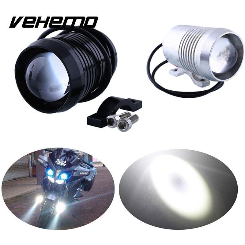 Motorcycle Waterproof  12V U2 30W LED Driving Fog Head Light Black