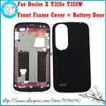 Для HTC Desire X T328e Черный Белое Золото Новые Оригинальные Корпуса рамка Лицевой Панели Передней Панели ЖК-Дисплей Рамка Обложка Чехол + крышка Батарейного Отсека
