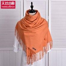 Luxury Brand Scarf Pashmina Echarp Cashmere Scarf Wrap Shawl Winter Scarf Women Men Scarves Long Tassel Wool Cachecol Foulard
