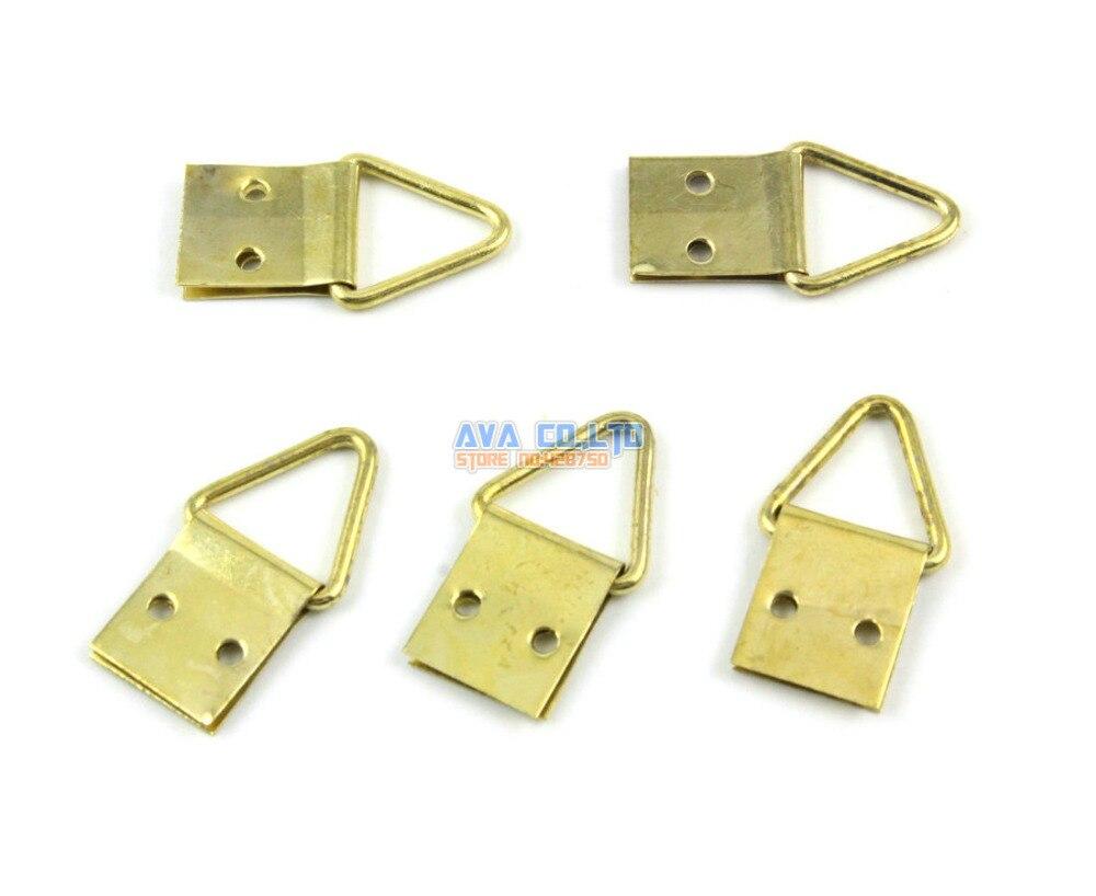 200 Pieces Gold Photo Frame Hook Hanging Photo Frame Hanger 10x23mm ...