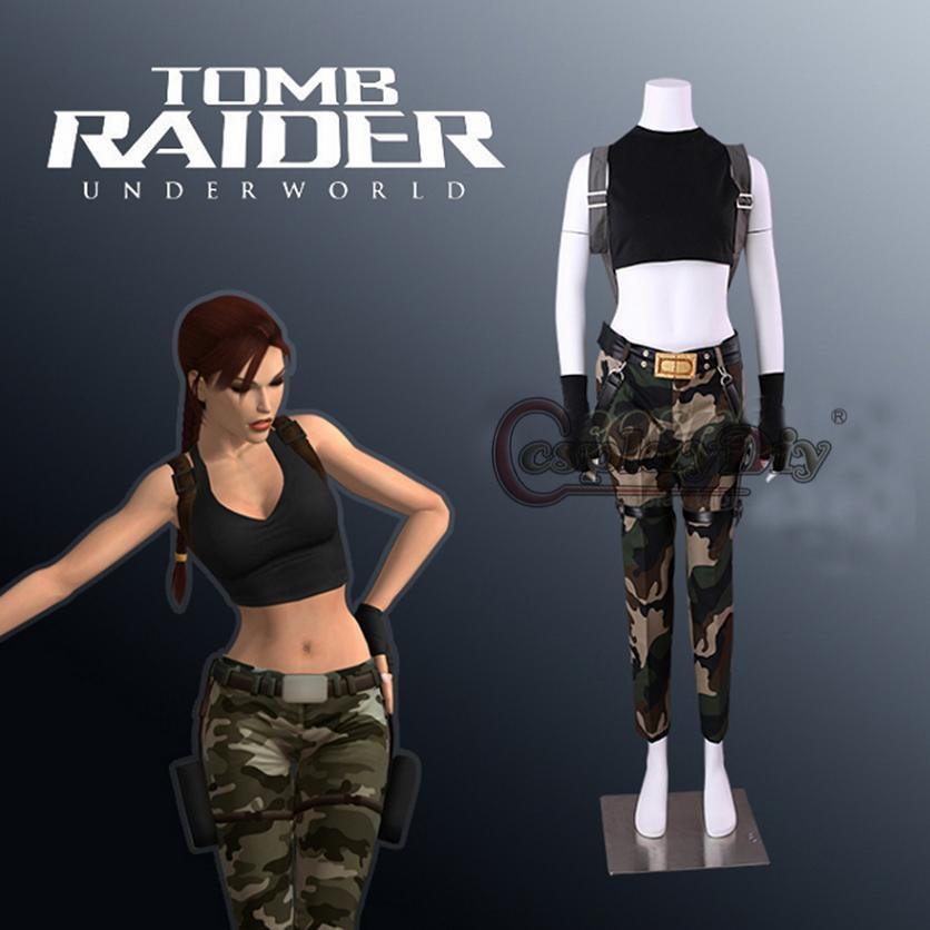 Cosplaydiy Game Tomb Raider Lara Croft Cosplay Costume