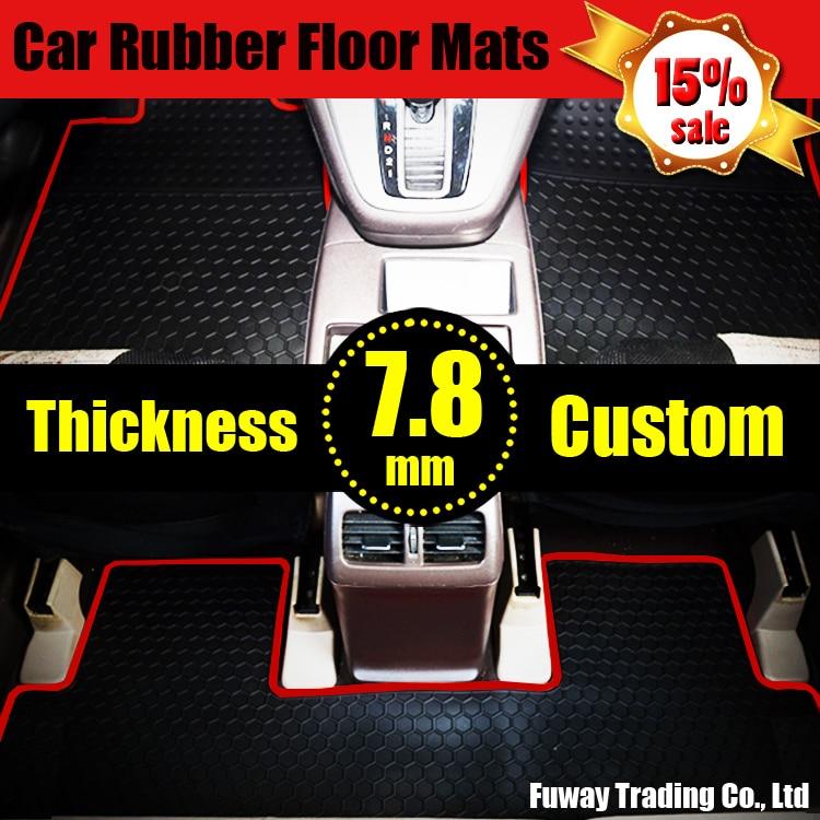 Car Logo Rubber Pat Material Floor Liner Kit Mat For Vw
