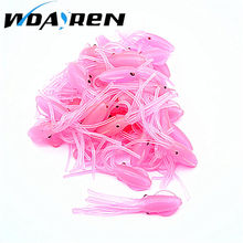 WDAIREN 1Pcs Pink sea fishing 7cm 3.7g Fishing Lures Luminous Cute Squid Soft Baits Bionic Artificial octopus squid lures FA-159