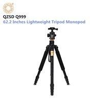 QZSD Q999 Camera Tripod 62.2 Inches Aluminium Magnesium Alloy Camera Video Tripod Monopod with Quick Release Plate