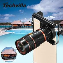 Universal 8X Zoom Telescope Lens Magnifier Clip On Binocular Photography for Cellphone SmartPhone Black
