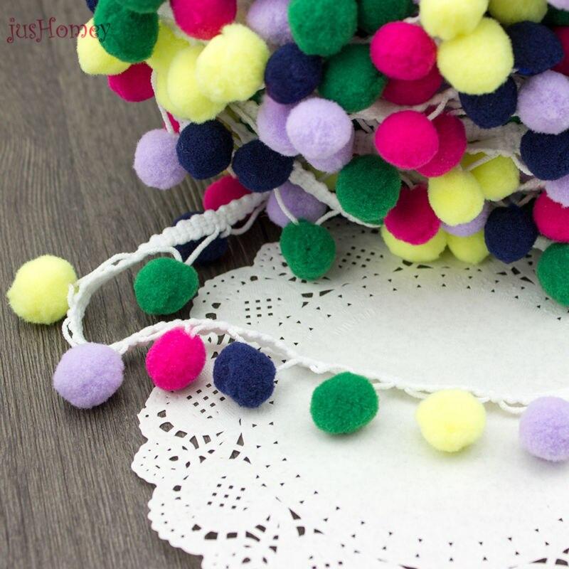 jusHomey 10 ярдів барвиста обробка м'яча - Мистецтво, ремесла та шиття