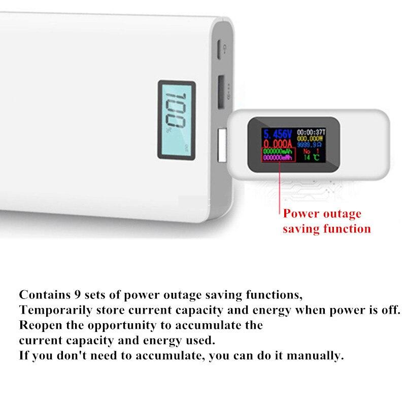 Digital Voltmeter Ammeter-Detector Charger-Indicator Usb-Tester Power-Bank Current Amperimetro