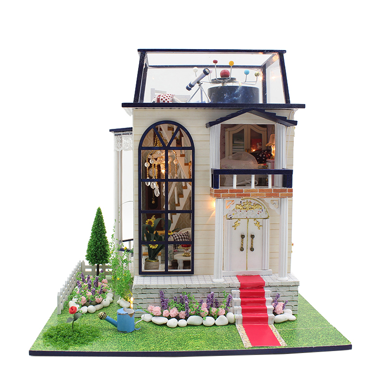DIY Wooden House Miniaturas with Furniture DIY Miniature House Dollhouse Toys for Children Christmas and Birthday Gift 13837 diy wooden house miniaturas with furniture diy miniature house dollhouse toys for children christmas and birthday gift a28