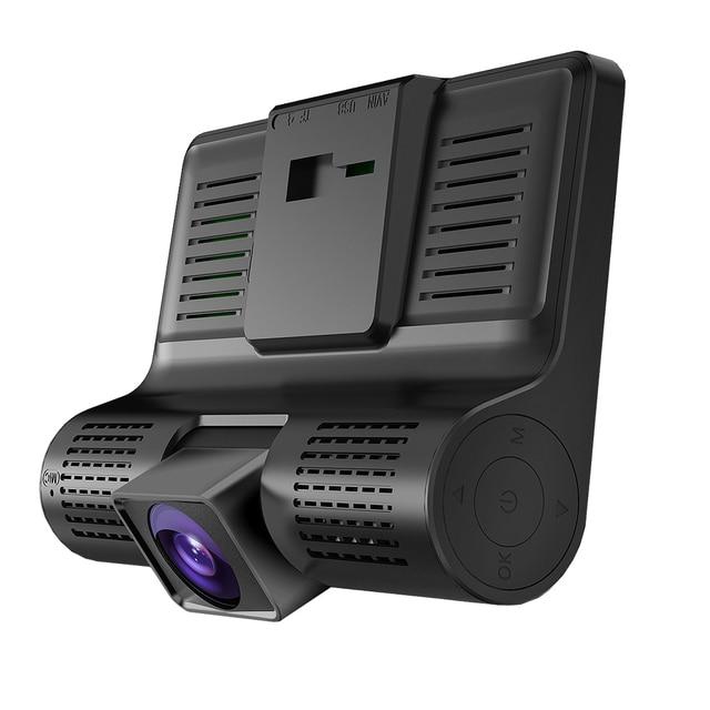 AMPrime 4 ''trois voies voiture DVR FHD trois objectifs enregistreur vidéo caméra 170 grand Angle Dash Cam g-sensor et caméscope de vision nocturne 3