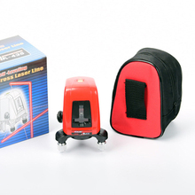 AK435 Laser Level 360 degree self-leveling Portable mini Cross Red Laser Levels Meter 2 line 1 point 635nm Leveling Instrument цена
