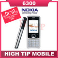 Soporte de teclado ruso Nokia abierto original 6300 teléfono móvil celular Reformado 1 año de garantía de Singapur envío libre