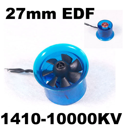 цена на New HL2708 1410 10000KV Motor EDF 27mm Ducted Fan for RC Aircraft Airplane
