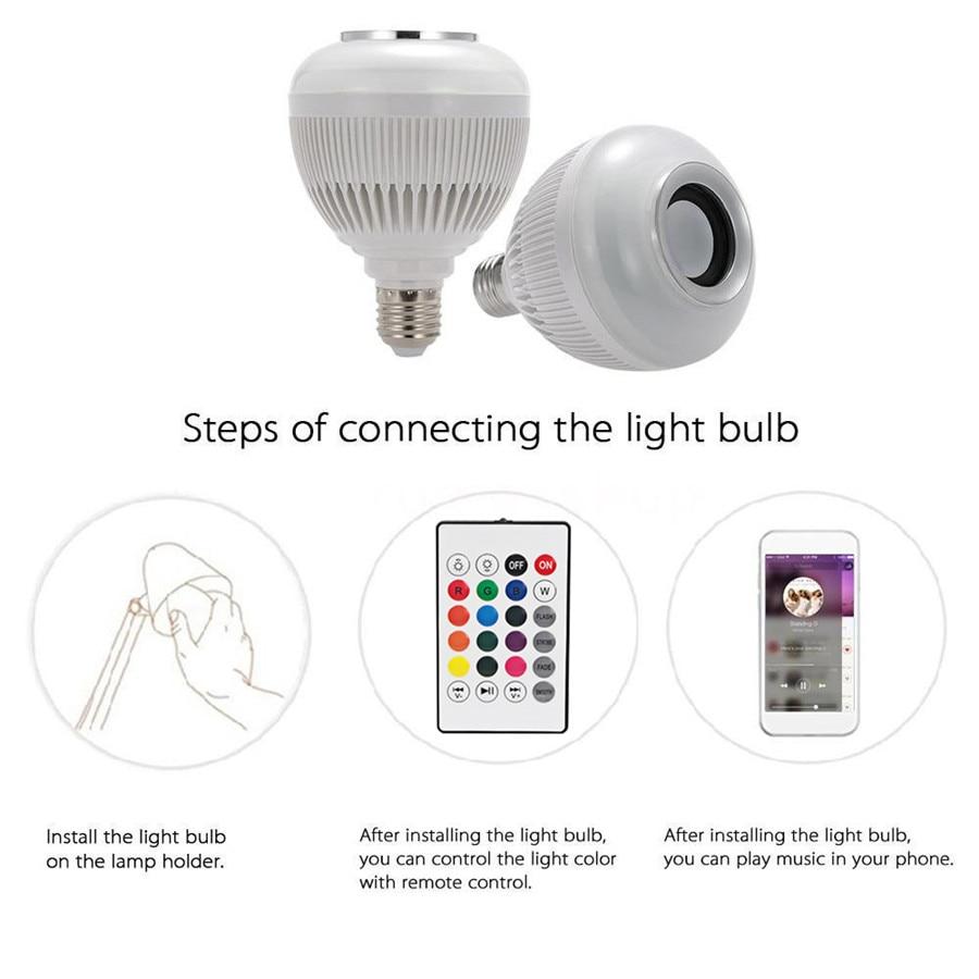 Lâmpadas Led e Tubos rgb dimmable lâmpada led música Item : Rgbw Bluetooth Led Bulbs