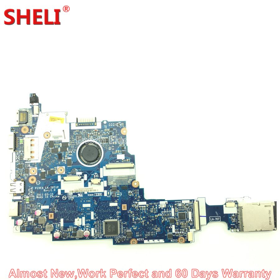 MBSFT02003 MB.SFT02.003 Laptop Motherboard For Acer Aspire One 722 Netbook P1VE6 LA-7071P C60 1.0 GHz 2