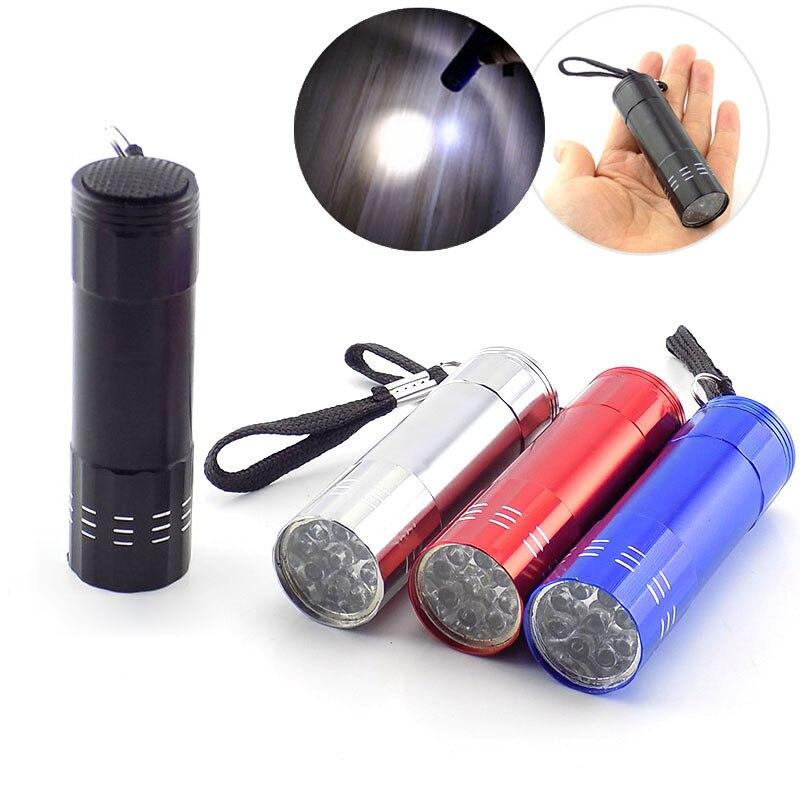 9 Led Mini Flashlight White Led Lamp Powerful Flash Light Lanterna Protable Small Pocket Torches Penlight For Hiking Camping
