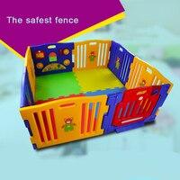 Детские игрушечный забор высокое качество малыша Детская безопасность забор ребенка ползать Pad забор в виде перил 8 шт. панелей пластик эксп