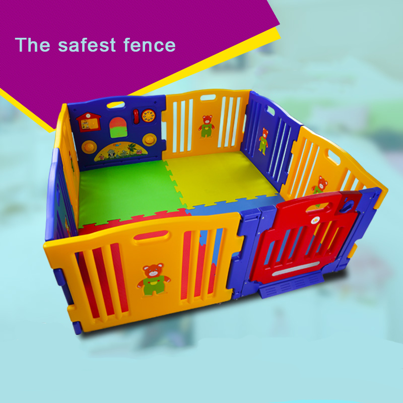 Baby Child Game Fence Baby Toddler Safety Fence Baby Crawling Pad Guardrail Fence 8pcs Panels plastic export fence