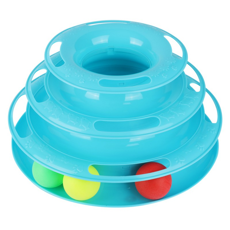Drop Shipping Funny Cat Pet Toy Cat Toys Intelligence Triple Play Disc Cat Toy Balls Cat Crazy Ball Disk Interactive Toy in Cat Toys from Home Garden