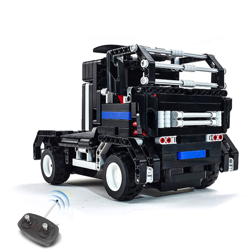 DIY Technic Building Block Car Kit Transform RC Container Lorry to Sports car model Car Assemble Set Toys Gift for children boy mu 3d metal nano puzzle tf op g1 model kit ym l03g c diy 3d laser cut assemble jigsaw toys for audit