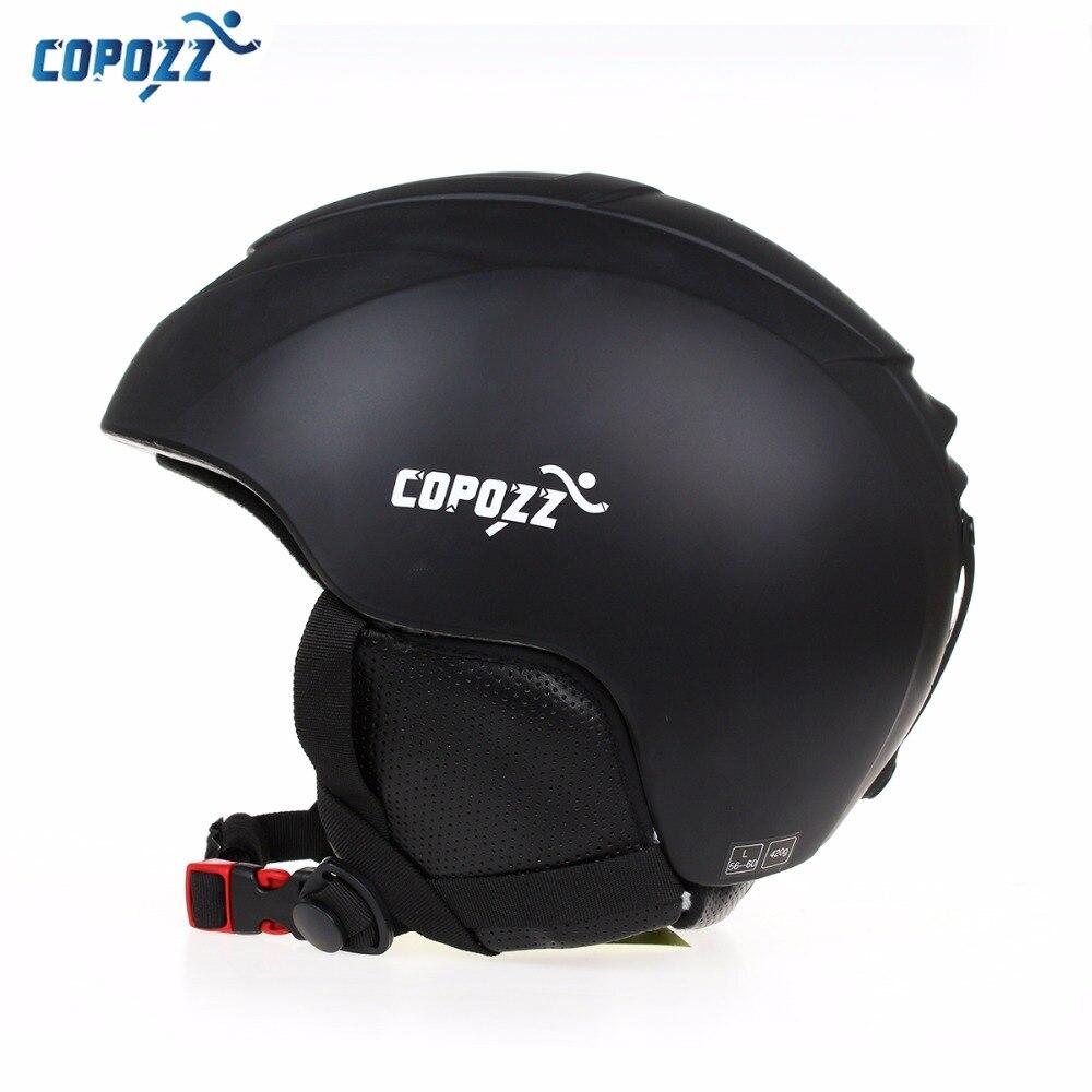 COPOZZ Ski Helm Männer Frauen Warm Schutz Sport Skating Skateboard Skifahren Integral geformten Winddicht Snowboard Helm Abdeckung