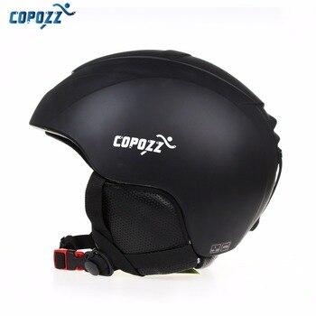 Copozz Ski Helm Pria Wanita Hangat Pelindung Olahraga Skate Ski Secara Integral Dibentuk Windproof Snowboard Helm Cover