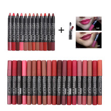New 12 Colors Sexy Lipstick MENOW 1pc Waterproof Solf Kiss Proof Lipstick Long Lasting Make