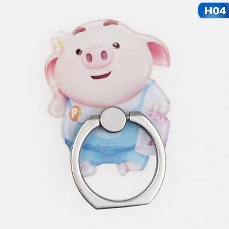UVR Porco Animal Mobile Phone Stand Titular Anel de Dedo Smartphones Porco Bonito Estande Titular Para Xiaomi Huawei Tudo Telefone