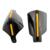 New Black 2 pcs Motocross Moto Universal Moto Handguards Mão Guardas Protetores 22mm Bar Quente