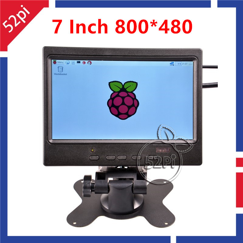 7 Inch 800x480 TFT LCD Display HDMI Monitor Screen with Remote Controller For Raspberry Pi Win 7 8 XP 2000