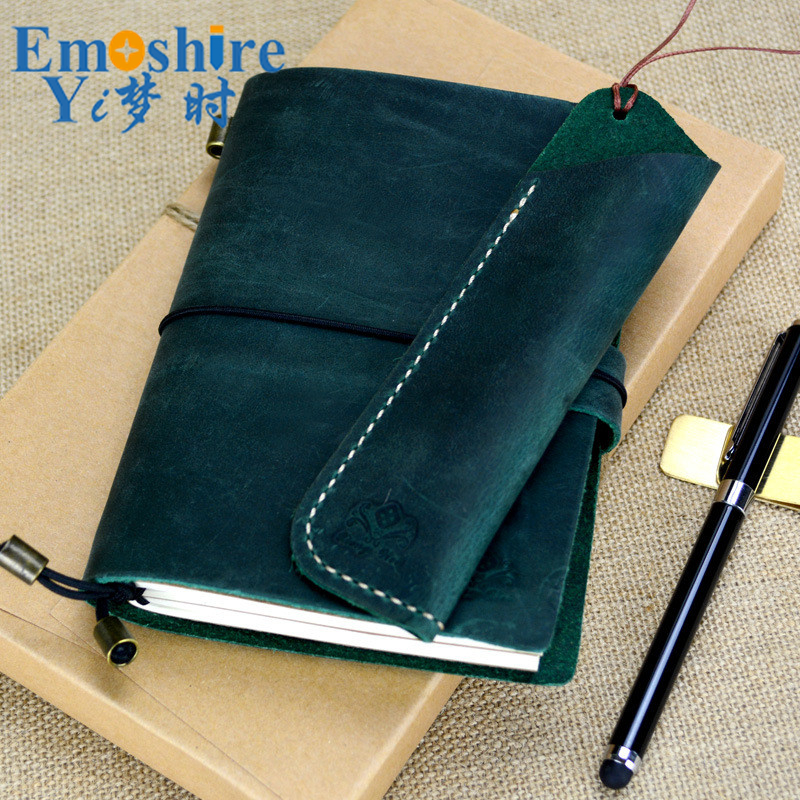 Leather Notebook Diary Loose-leaf Notebook Vintage Travel Notepad Leather Notepad Customization Office School Supplies N112 a6 spiral notebook diary notepad dokibook business leather loose leaf notepad school office supply customized logo