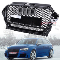 1Pcs Car Racing Grill Grille ABS Black Radiator Chrome Front Bumper Modify Parts Mesh Henycomb For