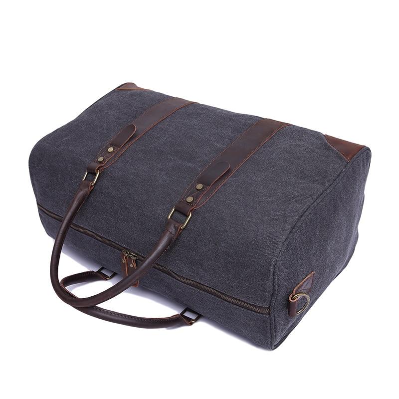 Travel Bags Canvas Large capacity Retro Handbag Travel Bag Wearable +Waterproof Travel Bag - 5