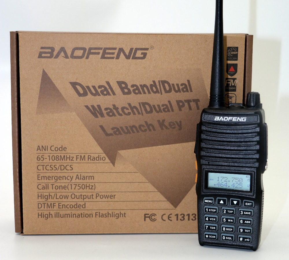 BaoFeng UV-82 (II) מכשיר הקשר CB רדיו 128CH 5W Dual Band - ווקי טוקי