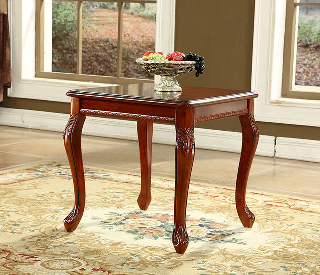Merveilleux European Style Solid Wood Coffee Table Square Corner Retro Side Table  Modern American Side Coffee Table Small Tables