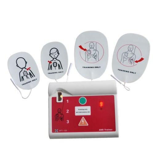 1 set AED formateur automatique défibrillateur externe simulateur Patient Machine de premiers soins rcr école compétence Traning anglais et espagnol - 5