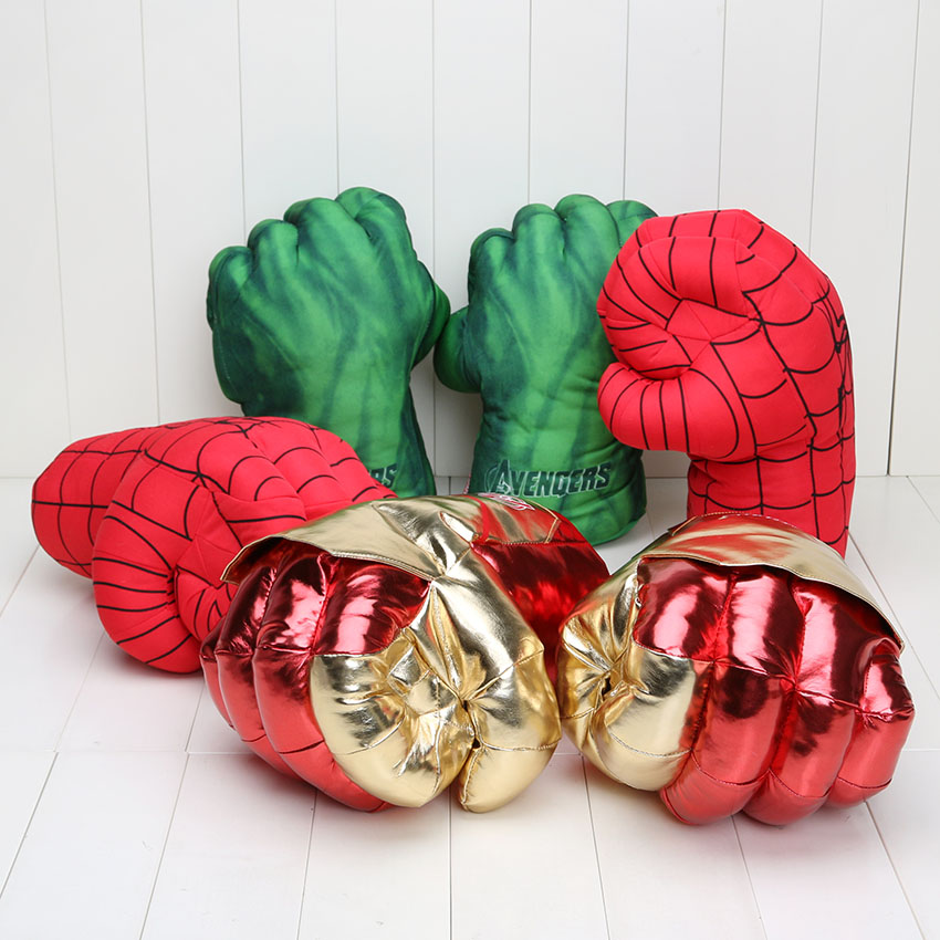 Children Hulk Fist Spider Boxing Set Cosplay Props  Plush Toy Gloves Avengers UK