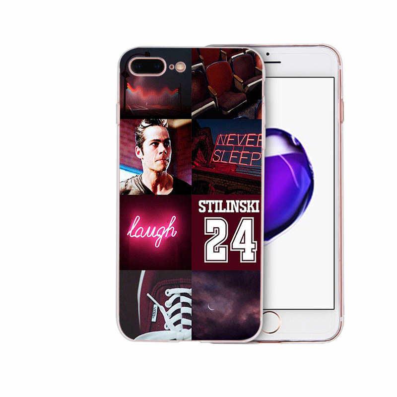 Teen wolf stilinski capa de telefone luxuosa, design exclusivo, para iphone x, xs, max, 6, 6s, 7, 7plus capa macia de concha para 8 plus 5 5S xr se