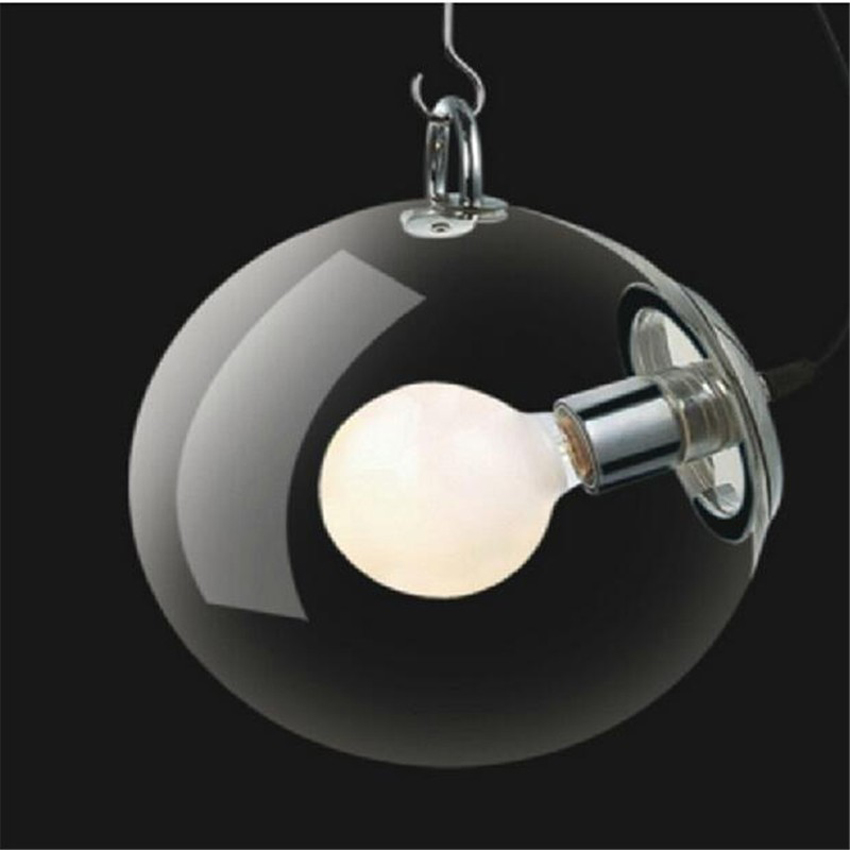 Modern clear glass ball Pendant light,dia 25cm/30cm glass ball lamp shade Indoor lighting Hanging lamp Restaurant light fixtures 4 glass small clear ball paraffin oil lamp indoor outdoor