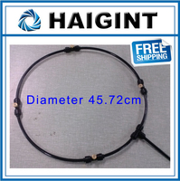 0665 Freeshipping HAIGINT Watering Irrigation Sprayers18 Black Water Cooling Kit Garden Spray Ring