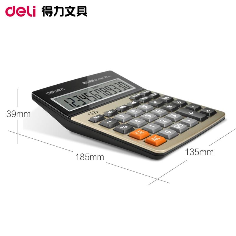 DELI 1541A Calculator Teaching Resources Mathematics Big Button Calculator Large Screen Calculator Finance Office 1PCS teaching mathematics in kenya