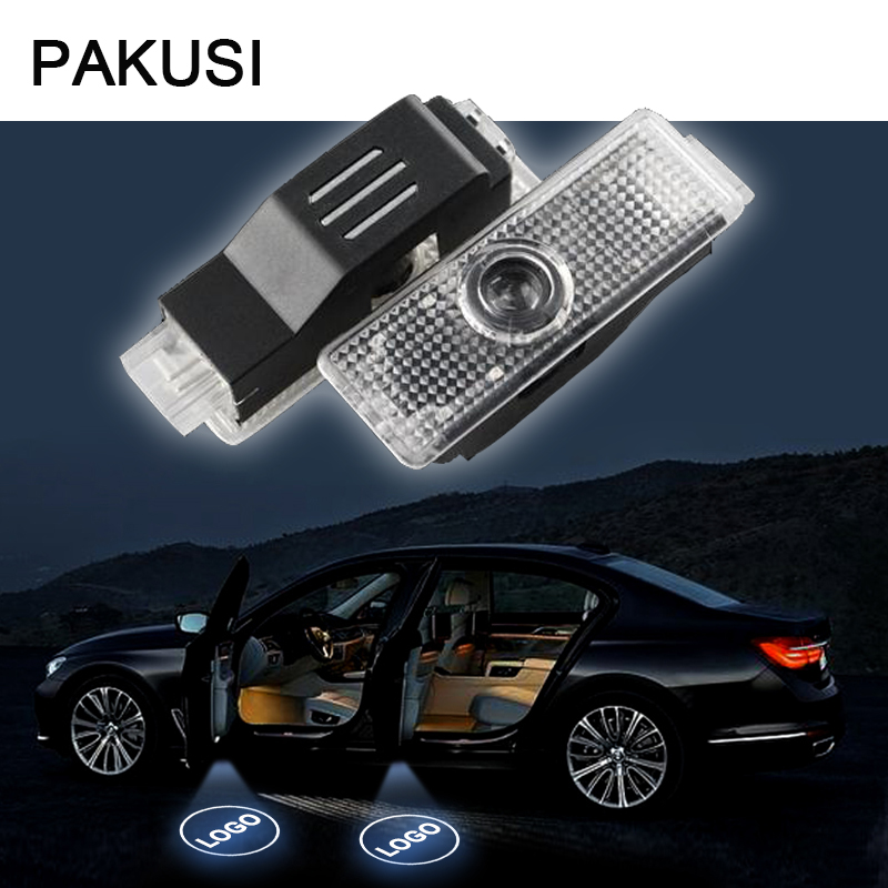 PAKUSI 2X Car Door Welcome Light 12V For <font><b>BMW</b></font> E60 E63 E90 <font><b>E92</b></font> E93 X1 X3 X6 <font><b>M3</b></font> M5 M <font><b>logo</b></font> Projector Accessories LED courtesy lamp image