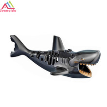The Caribbean Building Bricks Toys For Children Ghost Zombie Shark Action Single Sale Pirates