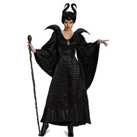 Sexy Witch Costume Black Magic Woman Black Evil Female Clothing Wicked Witch Robes Halloween As Fashion